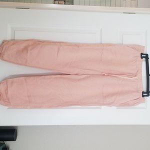 Pink linen pant